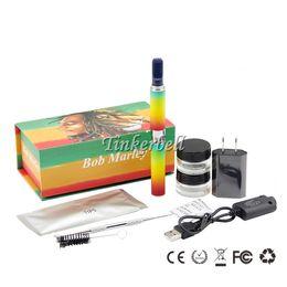 Wholesale E Cig Atomizer Dry - Bob Marley Kit Luxury Box Kit With Herbal Atomizer Vaporizer Dry Herb Tank shisha E Cig Kit
