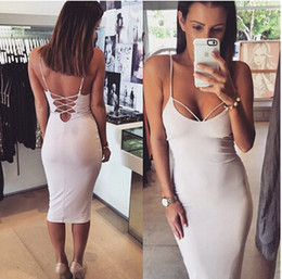 Wholesale Tight Maxi Skirts - Europe and the United States back cross halter dress sexy suspenders skirt tight bandage
