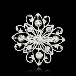 2019 piante di piccole dimensioni Spille per donne Mix Design Argento piantato trasparente con strass di cristallo di piccole dimensioni Bouquet di fiori spille da sposa piante di piccole dimensioni economici