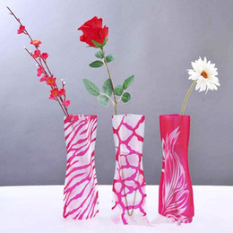 Wholesale pvc hot water bag - Hot Sale Foldable Vase Wholesale Weddings Vases Water Bag PVC Plastic Decoration Home Ornaments Wholesale Free Shipping