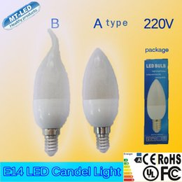 Wholesale Absolute cheapest price Epacket E14 W W chip AC V led plastic frosted candle lamp chandelier led light lighting spotlight