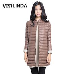 Wholesale Winter Jacket Fur Wadded - Wholesale- VESTLINDA Wadded Winter Jacket Women Cotton Long Jacket Fur Slim Padded Coat Outwear High Quality Warm Chaquetas Parka Feminina