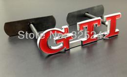 Wholesale Vw Front Emblem - Excellent 100% Brand New GTI Emblem Metal For VW Front Grille car Emblem Badge Logo sticker car styling