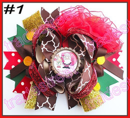 Wholesale Over Top Hair Bows - free shipping 35pcs 6'' large Over the Top Loopy Boutique Bow girl big bows