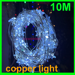 Wholesale Led Star Shaped Strings Lights - DHL Free 10m 100 lights Led copper string lights 12V LED Fairy Light Decoration Light Star Shaped LED String Lights for Christmas