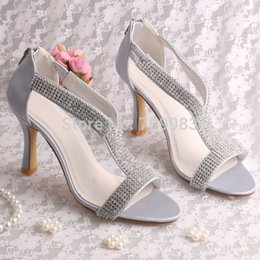 Wholesale Custom Pink Rhinestone Heels - (20 Colors)Custom Designer High Heel Sandal Shoes Wedding Womans Silver with Rhinestone FREE SHIPPING