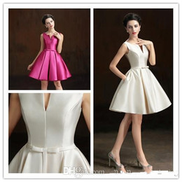 Wholesale Taffeta Knee Length Prom - 2016 Short Special Occasion Dresses Designer Jewel Neck Knee Length Sash Cocktail Party Gowns Cheap Evening Prom Wear Custom Made New