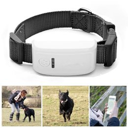 Wholesale Waterproof Tracking Dog Collars - 4 Band Mini Waterproof GPS Tracker Tracking Device GPS Tracking position Location For Pet Dog Cats Real Time Locator Alarm with Collar