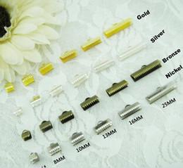 Argentina Envío gratis X030 Nueva 500pcs 25mm DIY Jewelery Cord ends y Ribbon Ends - Crimp Ends en Silver Gold Bronce Cobre supplier diy silver cord Suministro