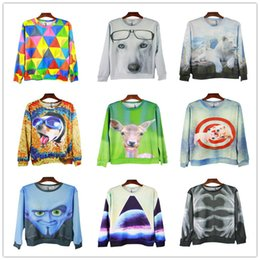 Wholesale Dog Clothes Pig - FG1509 2015 New Arrival Men's Hoodies 3D Animal Pig Dogs Printing Sweatshirt For Boy Outdoor Sports Steatwear Casual Clothing For Men