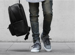 2019 tyga déchiré jeans jeans déchirés pour hommes skinny Distressed slim marque célèbre designer motard hip hop swag tyga blanc noir jeans kanye west tyga déchiré jeans pas cher