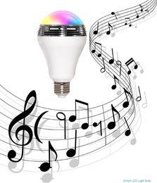 Wholesale Led Center - Creative APP Control Speaker Wireless Control Speaker LED RGB Color Bulb Light Lamps E27 D5528B Bluetooth Mini Speaker
