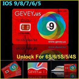 Wholesale Gevey Iphone Unlock Sim - Rsim New gevey unlock card for iOS 5&6&7&8&9 Newest E-paper Sim Gevey Sim Card for iPhone 4 5 5S 6 6Plus 6S Gevey unlock all phones