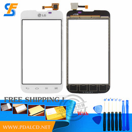Wholesale Lg Optimus L5 Dual - Wholesale-(white)Touchscreen for LG E455 Optimus L5 Dual SIM Cell Phone Touch panel Replacement Front Glass Digitizer Free shipping