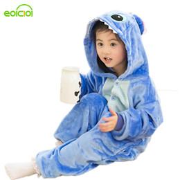 Wholesale Flannel Pajamas Sets - Winter Baby Boys Girls Children christmas pajama set Flannel Stitch Animal Pajamas Kid Pajama sets Onesies Children pyjamas kids