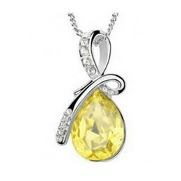 Wholesale Womens Silver Long Necklaces - Fashionable Pendant Necklaces Simple Style Vintage Long Necklaces Luxury Wedding Party Womens Jewelry Best Gifts B39
