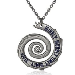 Wholesale Dr Stuffed - 2016 Fashion Movie Jewelry Doctor Who Wibbly Wobbly Timey Wimey Stuff Antique Finish Dr Who Necklace 12pcs lot