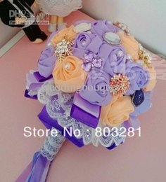 Wholesale Diy Lace Brooch - Free shipping,creative custom DIY, brooch, ribbon and beads lace flower, bridal bouquet, wedding supplies