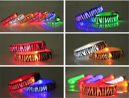 Wholesale Led Reflective Armband - 260pcs hot 21 colors Led Arm band Safety Reflective Belt strap Snap Wrap Wrist Ankle Armband for Outdoor Sports D585