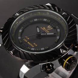 Wholesale Silicone Rubber Band Watches - Brand New Shark Bezel Swirl Design Men Wristwatch Sport Relogio Digital 3ATM Waterproof Wrap Silicone Band Casual Wrist Fashion Watch  SH168