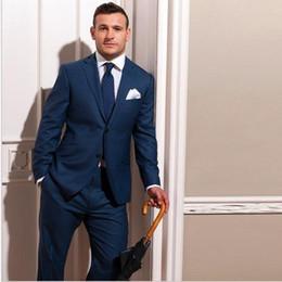 Nuevos trajes de boda hechos a medida para el novio azul para hombre a medida traje de esmoquin a medida para hombre azul slim fit trajes de lana desde fabricantes
