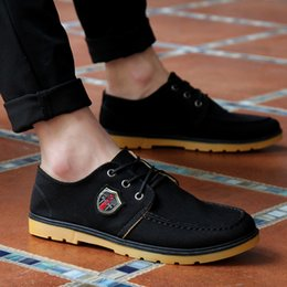 Wholesale Wholesale Boots For Men - Wholesale- 2017 New boots for men ankle boots casual shoes canvas fashion solid round toe martin boots shoes man's foot 24.5-27cm