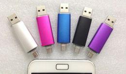 Wholesale Pen Drive Micro 64gb - Smart Cell phone pendrives 64GB USB 2.0 Flash Drive Thumbdrie pen drive U disk OTG external storage micro usb memory stick