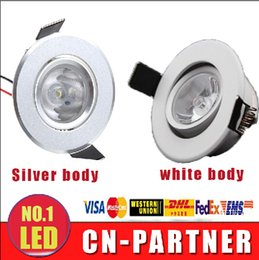 Wholesale Mini Recessed Lamps - x20 LED Recessed Downlight 3W LED white silver body LED cabinet lights mini led downlight ceiling lamp 85-265V with power driver CE ROHS