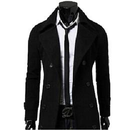 Canada Automne-Mode Nouvelle Marque Hommes Trench-Coats D'hiver Manteaux Duffle Manteau Hommes D'hiver Veste Peacoat manteau homme Haute Qualité cheap duffle coats Offre