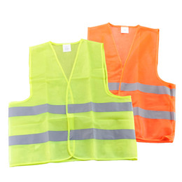 Uniformes de trabajo online-50pcs Free DHL High Visibility Security Safety Vest Jacket Reflective Strips Work Wear Uniforms Clothing