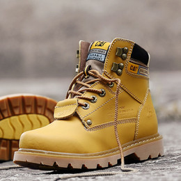 Wholesale Men Wearing Slips - Men Martin boots outdoor sports hiking shoes snow casual shoes male cowboy boots non-slip wear-resistant work boots Walking Travel shoes