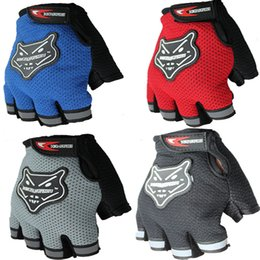 Wholesale Fox Racing Xl - 201410 FOX Gloves Bicycle riding gloves Mountain bikers Knight Breathable Half Finger gloves sports gloves Christmas Gifts A397X