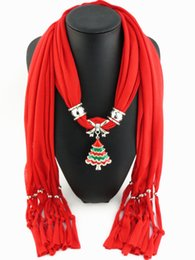 Wholesale Solid Jewelry Scarves -    2016 New Fashion jewelry pendant polyester jersey fringed scarves fringed scarves solid polyester resin droplets heart scarves 561y