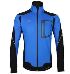 Invierno de la chaqueta de ciclismo online-2015 nueva chaqueta de la bici ARSUXEO invierno cálido ciclismo térmico manga larga chaqueta ropa de la bicicleta Jersey a prueba de viento MTB montaña accesorio montar