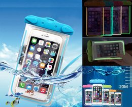 Wholesale Perfect Chinese - New Hotsale Perfect Swimming Waterproof Transparent Plastic Protective Cover Night Fluorescent Phone bags pouch for Smart phones