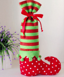 Wholesale Christmas Elf Ornaments - Wholesale- Christmas Decorations Elves foot Candy Promotional Gift Bag Dinner Decor Party
