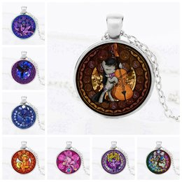 Wholesale Glass Kids Party - 1pcs lot Retail American movie jewelry My Little Ponies High Quality Round glass cabochon Pendant Necklace Kids Party toys Gift Wholesale