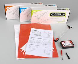 moteur rc nitro Promotion Durable Power up kit de conversion avion avion en papier électrique mode Kit de conversion avion avion en papier électrique