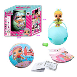 Wholesale Layer Egg - LOL Surprise Doll Outrageous 7 Layers Big Sister Blind Mystery Ball Xmas Gift with Retail Box Children Toys Action Figures Egg Doll