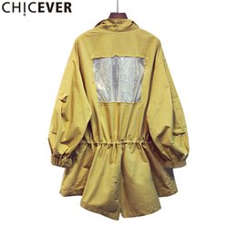 Wholesale Summer Trench Coat Women - Wholesale- CHICEVER 2017 Summer Long Sleeve Slim Casual Female Women Coat Loose Lace Up Trench Coats For Women's Basic Clothing Fashion