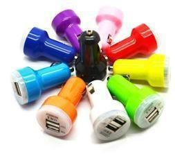 Wholesale Colorful Car Charger Android - For Iphone 6 Colorful Dual USB Car Charger 2 port Cigarette 2A Auto Power Adapter for iphone 4 5 ipad Samsung S5 Android DHL