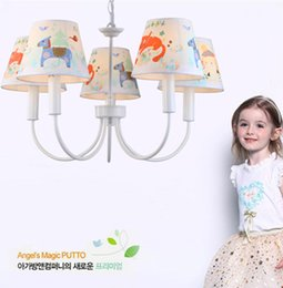 "Wholesale Hotel Kids Free - Free shipping 24"" Kids room color Led Pendientes novelty horse kids lighting Trojan Cartoon lamp Children room Bedroom iron chandelier lamp"