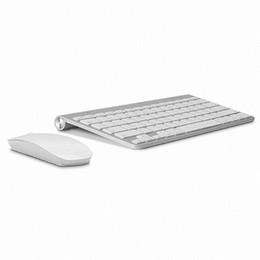 clavier pour apple tv Promotion Clavier Souris sans fil ultra-mince pour clavier Clavier sans fil 2.4G pour clavier Apple Style de clavier Mac Win XP / 7/8/10