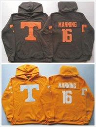 Wholesale Hoodie Jacket Xxl Size - New Tennessee Volunteers 16 Peyton Manning 11 Joshua Dobbs GRAY Orange Hoodie Hooded Sweatshirt Jackets Size S-3XL