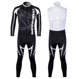Wholesale Merida Bib Pants - Wholesale-2015 Merida Team Long Sleeve Cycling Jersey Bicicleta Jersey Ropa Ciclismo Cycling Clothing + Cycling Bib Pants Kit