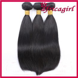 Wholesale Cheap Hair Weave Free Shipping - Cheap Hair Extensions 8A Brazilian UNPROCESSED Virgin Hair Bundles Silky Straight Hair Weft Weave 300g lot free shipping
