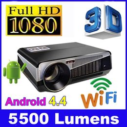 Wholesale Home Theater Projector Led Lamp - 2015 New Native 1280x800 full HD1080p wifi LED LCD home theater projector 5500 lumens 200W LED lamp with 2xHDMI USB