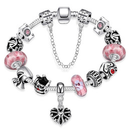 Wholesale Pandora Sets - 10 style pandora charm bracelets European and American popular silver plated beautiful jewelry for women girl mix order free shipping