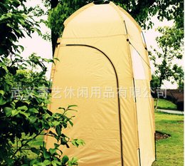 Wholesale Change Clothes Tents - Wholesale-New High Quality UV protection waterproof Large Outdoor camping Bath Change Clothes Tent shower Fishing Mobile Toilet Tent 12850