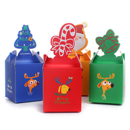 Wholesale Packing Boxes Supplies - Color Christmas Candy Box Lovely MINI Gift Packing Christmas Party Cake Box Festive Favors Promotion SD769